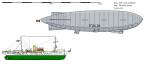 Airship Italia and support ship Città di Milano